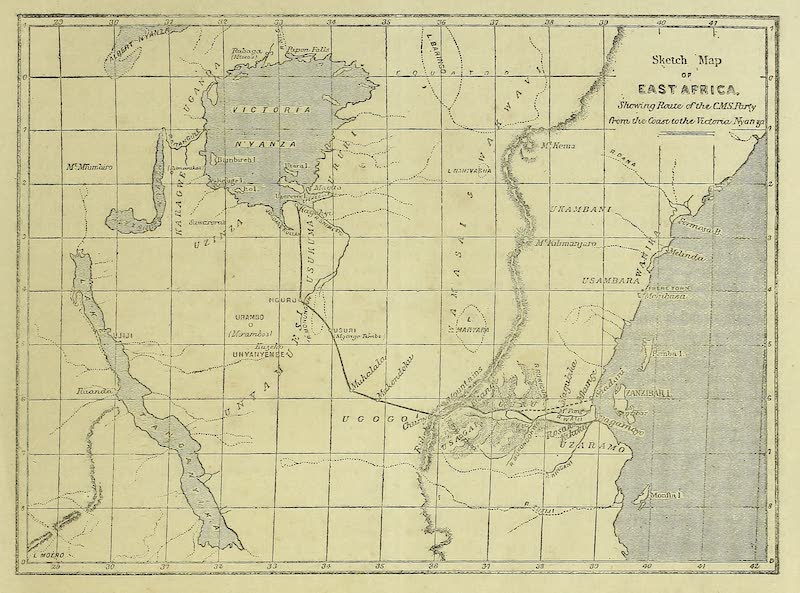 Sketches of African Scenery - Sketch Map of East Africa (1878)