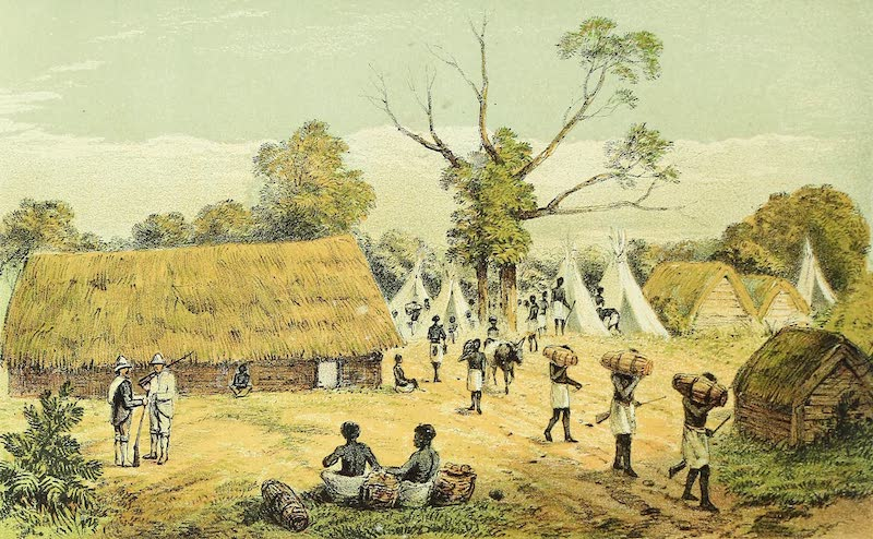 Sketches of African Scenery - The Start From Kikoka 18th July 1867 (1878)