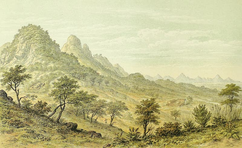 Sketches of African Scenery - View from the C.M.S Camp Mkundi River Usagara Looking East (1878)