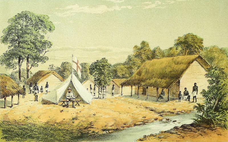 Sketches of African Scenery - Village of Rosako (1878)