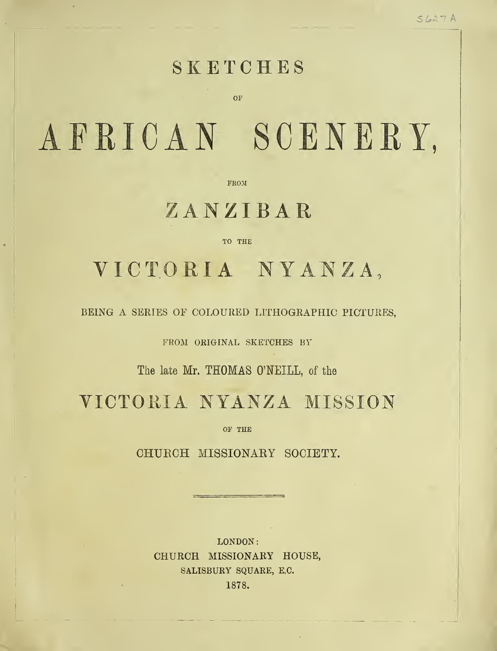 Biodiversity Heritage Library - Sketches of African Scenery