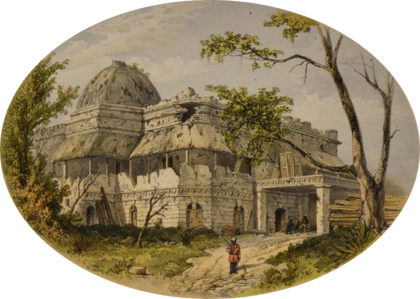 Sketches and Incidents of the Siege of Lucknow - Mr Gubbins's House (1857)