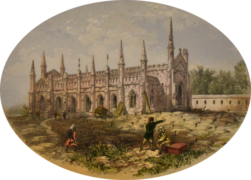 Sketches and Incidents of the Siege of Lucknow - The Church (1857)