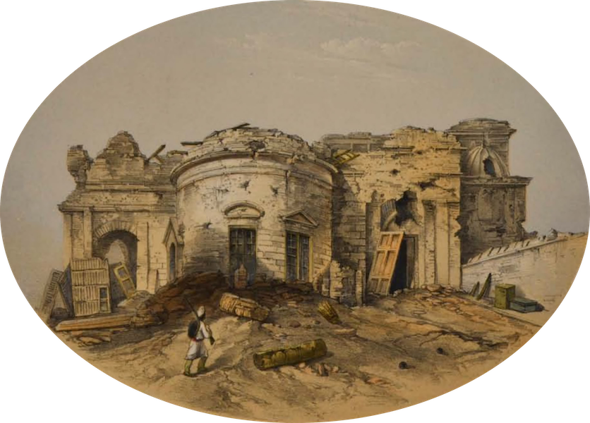 Sketches and Incidents of the Siege of Lucknow - The Judicial Commissioner's Cutcherry (1857)
