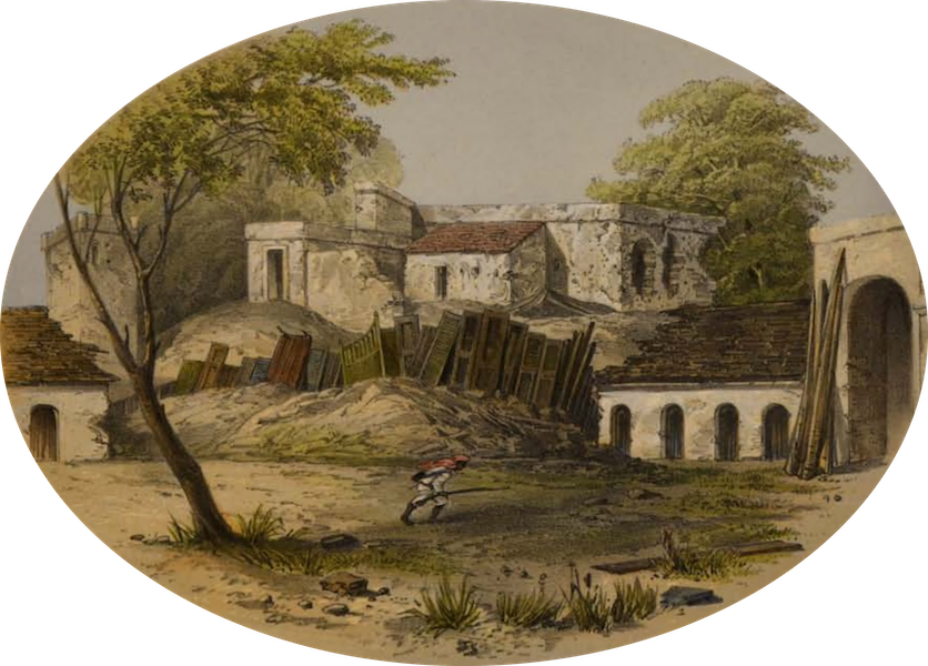 Sketches and Incidents of the Siege of Lucknow - The Seik Yard Breach (1857)