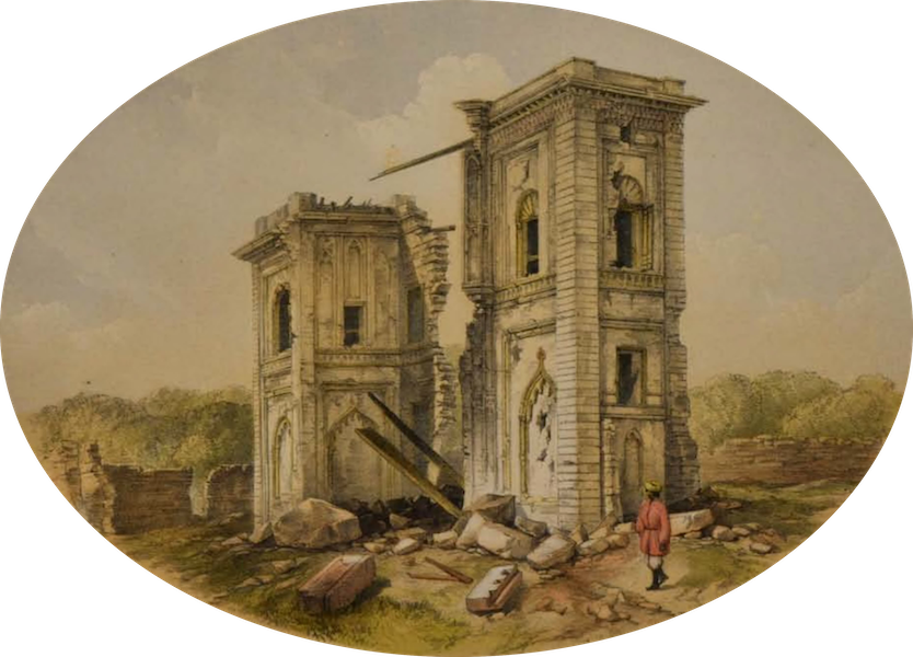 Sketches and Incidents of the Siege of Lucknow - The Nobut Khana Gateway (1857)