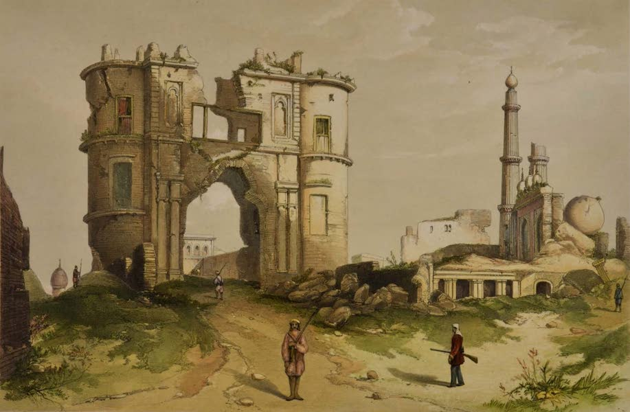 Sketches and Incidents of the Siege of Lucknow - The Clock-tower Gateway (1857)
