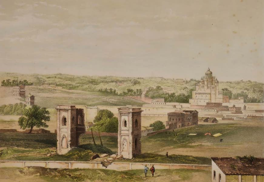 Sketches and Incidents of the Siege of Lucknow - View from the Residency Look-out Tower (1857)