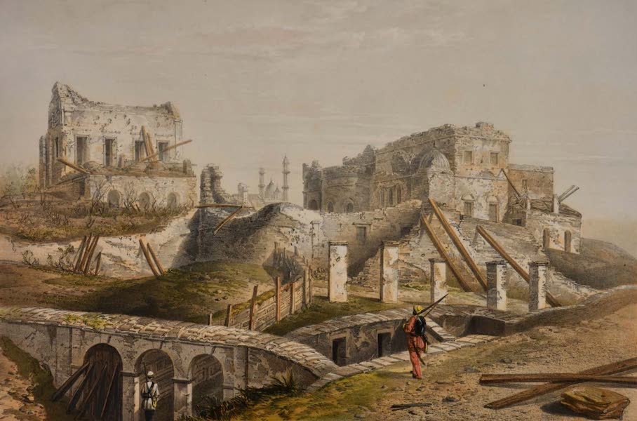 Sketches and Incidents of the Siege of Lucknow - View from the Highlanders' Post (1857)