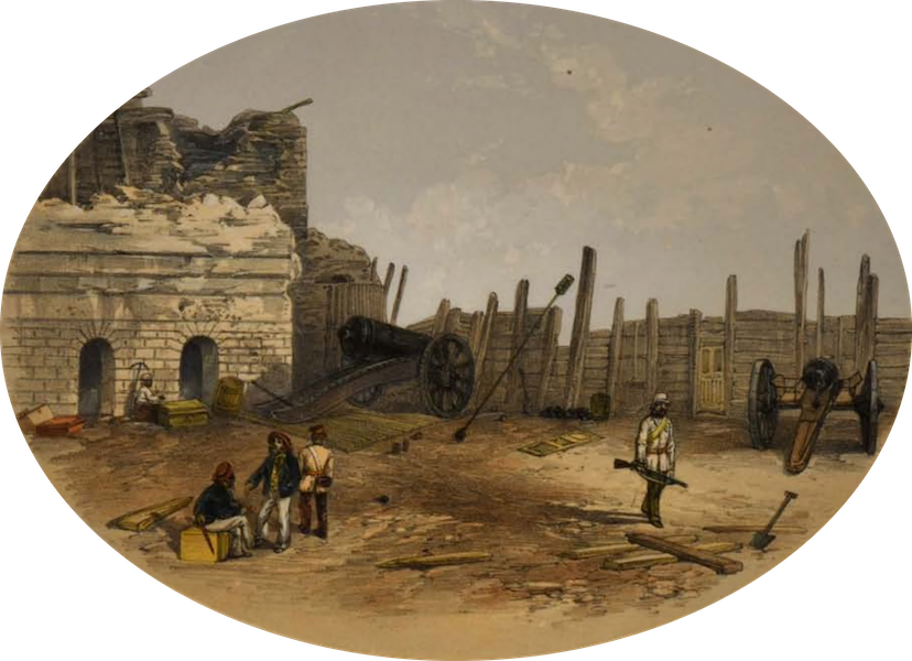 Sketches and Incidents of the Siege of Lucknow - Anderson's Battery (1857)