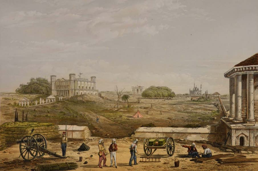 Sketches and Incidents of the Siege of Lucknow - Interior of the Allum Bagh (1857)