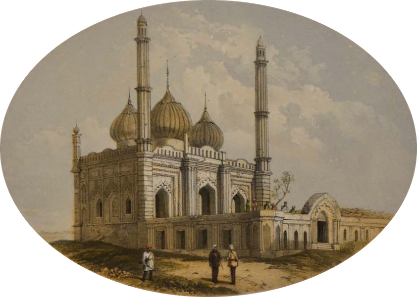 Sketches and Incidents of the Siege of Lucknow - The Mosque Picket (1857)