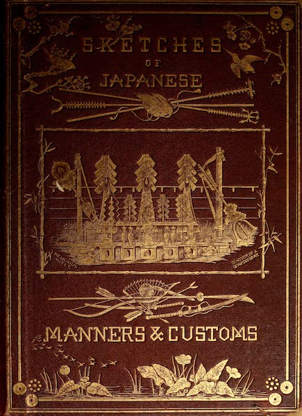Sketches of Japanese Manners and Customs - Front Cover (1867)