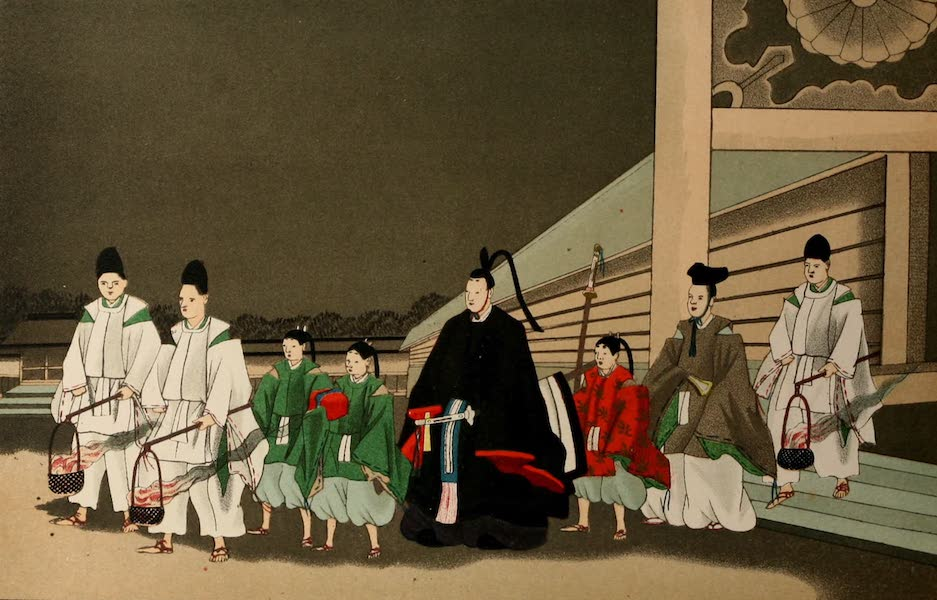 Sketches of Japanese Manners and Customs - A Minister of the Mikado on a Religious Expedition (1867)
