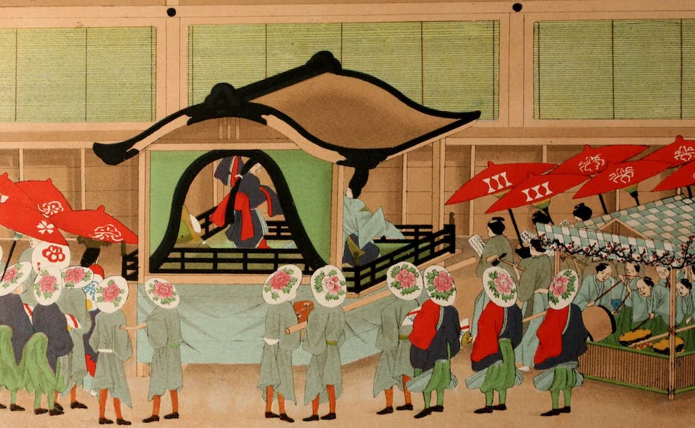 Sketches of Japanese Manners and Customs - Theatrical performance in front of the Mikado's Palace (1867)