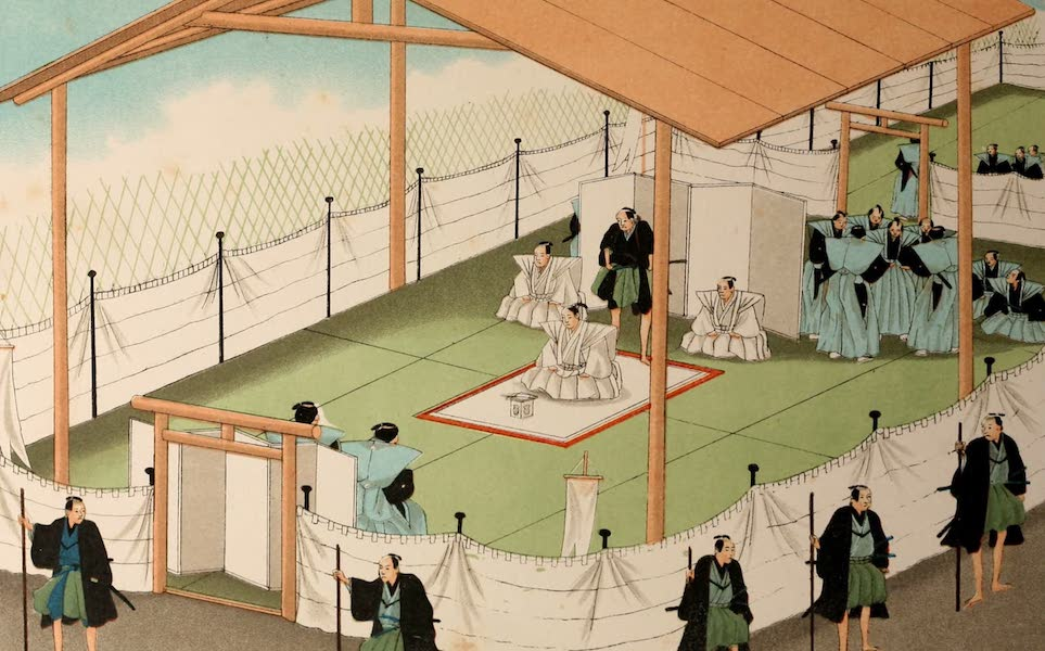 Sketches of Japanese Manners and Customs - The Sacrifice (1867)