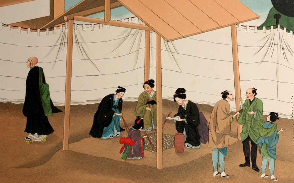 Sketches of Japanese Manners and Customs - Relatives Collecting Ashes (1867)