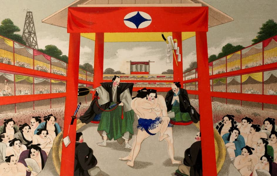 Sketches of Japanese Manners and Customs - Public Wrestling in the Great Amphitheatre at Yedo (1867)