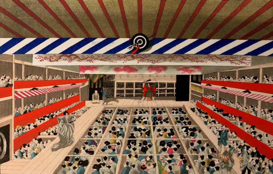 Sketches of Japanese Manners and Customs - Interior of a Theatre (1867)