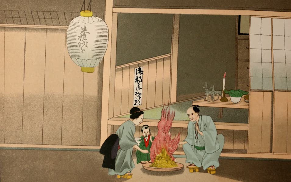 Sketches of Japanese Manners and Customs - Praying a Soul out of Purgatory (1867)