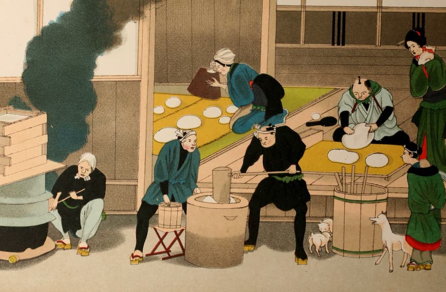 Sketches of Japanese Manners and Customs - A Bakers Shop (1867)