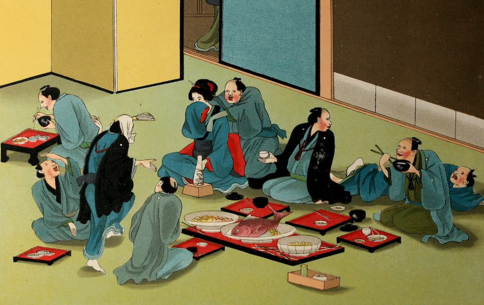 Sketches of Japanese Manners and Customs - A Tea House Merry-Making (1867)