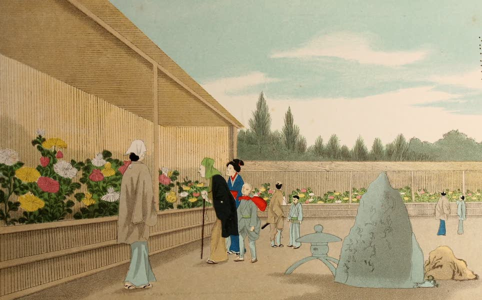 Sketches of Japanese Manners and Customs - A Flower Show (1867)