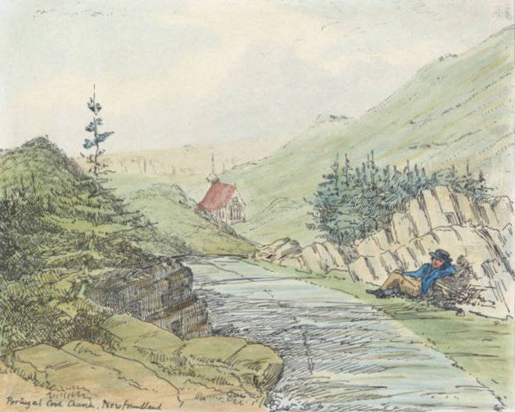 Sketches of Newfoundland and Labrador - Portugal Cove Church (1858)