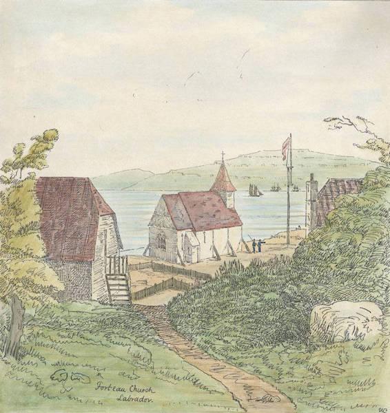 Sketches of Newfoundland and Labrador - Forteau Church (1858)