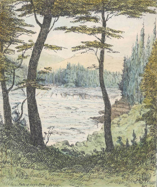Sketches of Newfoundland and Labrador - Falls of Eagle River (1858)