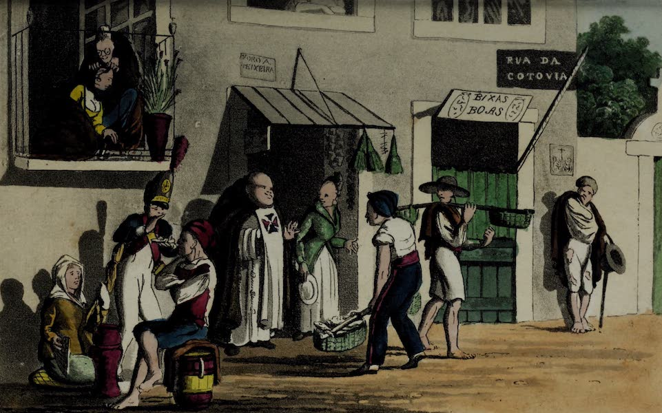 Sketches of Portuguese Life - Street Scene in Lisbon (1826)