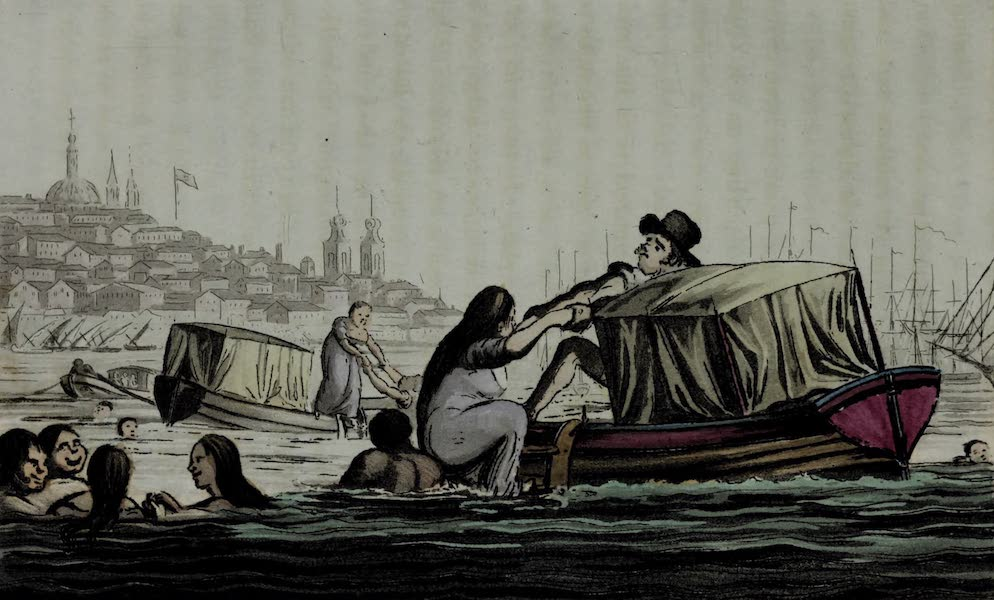 Sketches of Portuguese Life - Bathing in the Tagus (1826)