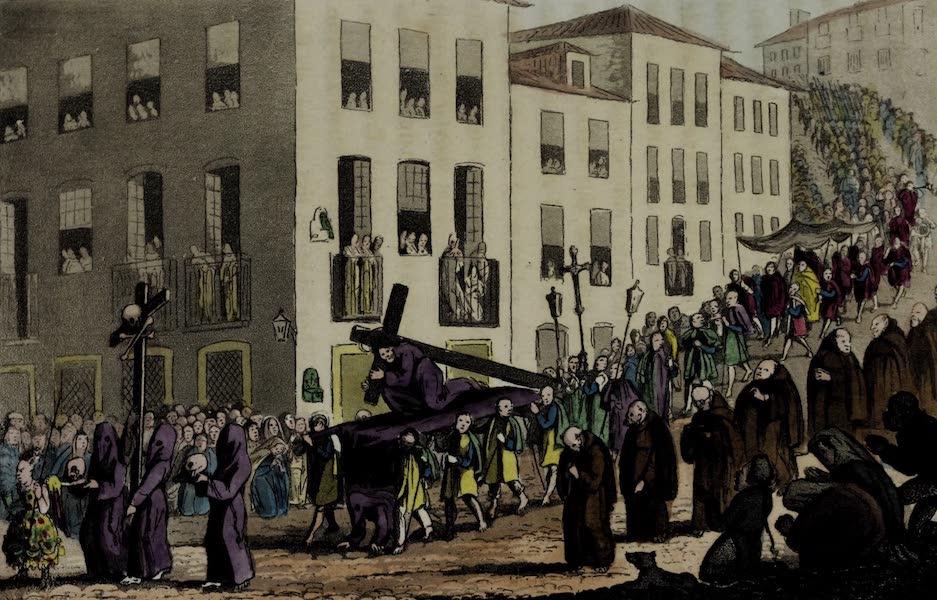 Sketches of Portuguese Life - Procession of the Sesor dos Passos de Graca (1826)