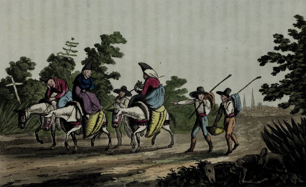Sketches of Portuguese Life - Going home from the Lisbon Market (1826)