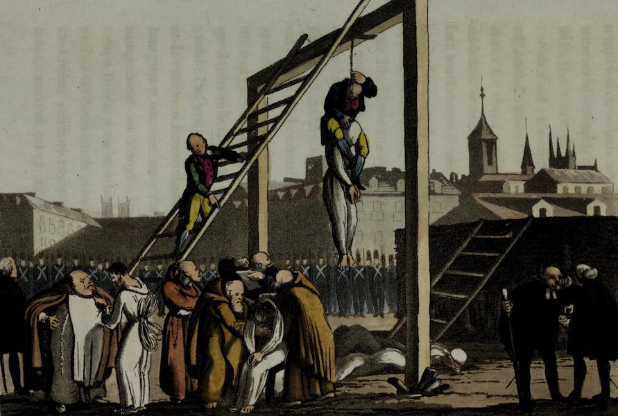 Sketches of Portuguese Life - Execution of the Conspirators - Plate 2nd (1826)