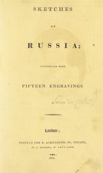 Sketches of Russia - Title Page (1814)