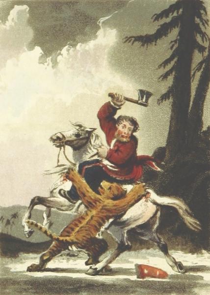 Sketches of Russia - A Cozak Killing a Tiger in Siberia - 1810 (1814)