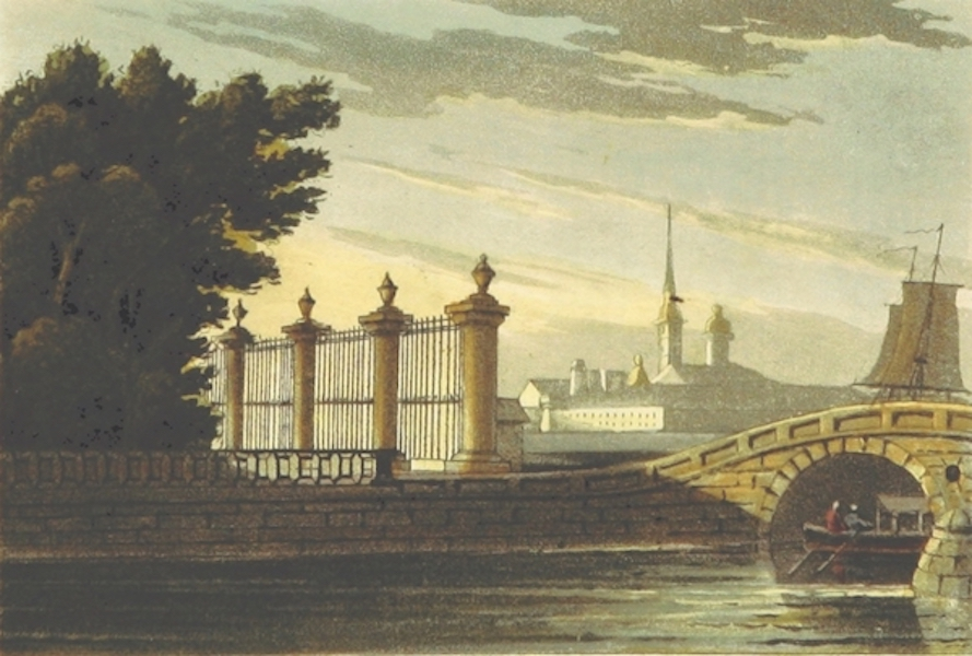 Sketches of Russia - View of a Summer Garden in St. Petersburg (1814)