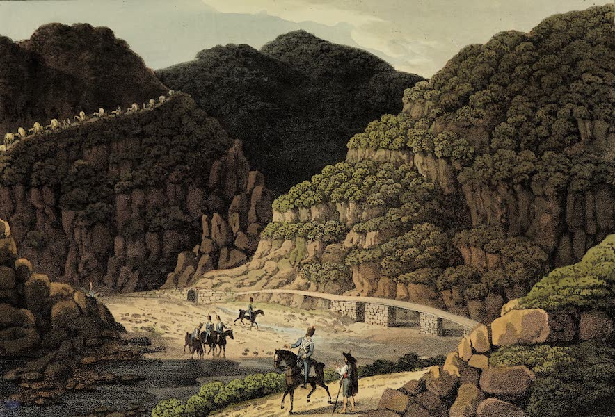 Sketches of Portugal and Spain - Pass in the mountains between Nisa and Villa Velha (1809)