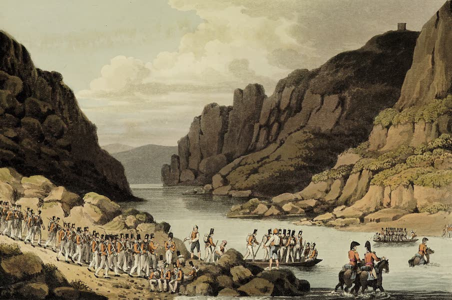 Sketches of Portugal and Spain - View on the Tagus near Villa Velha (1809)
