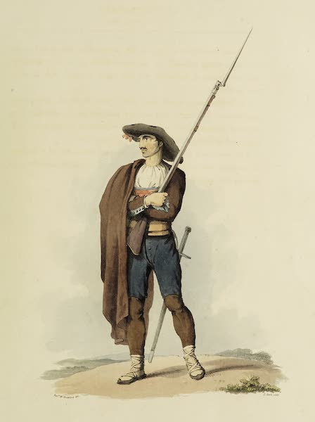 Sketches of Portugal and Spain - Armed Peasant of the Ciudad Rodrigo Militia (1809)