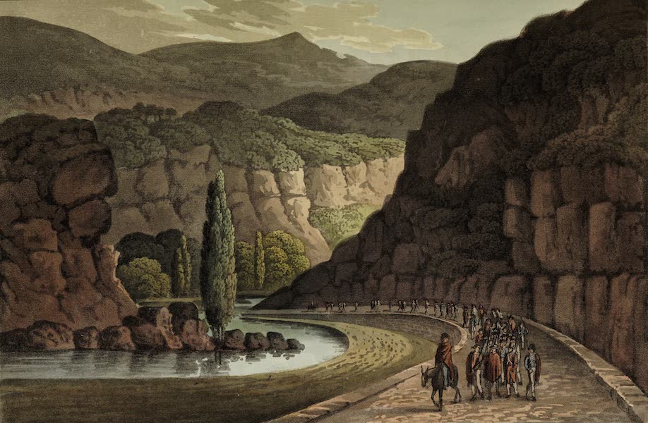 Sketches of Portugal and Spain - Pass near Villa Franca (1809)