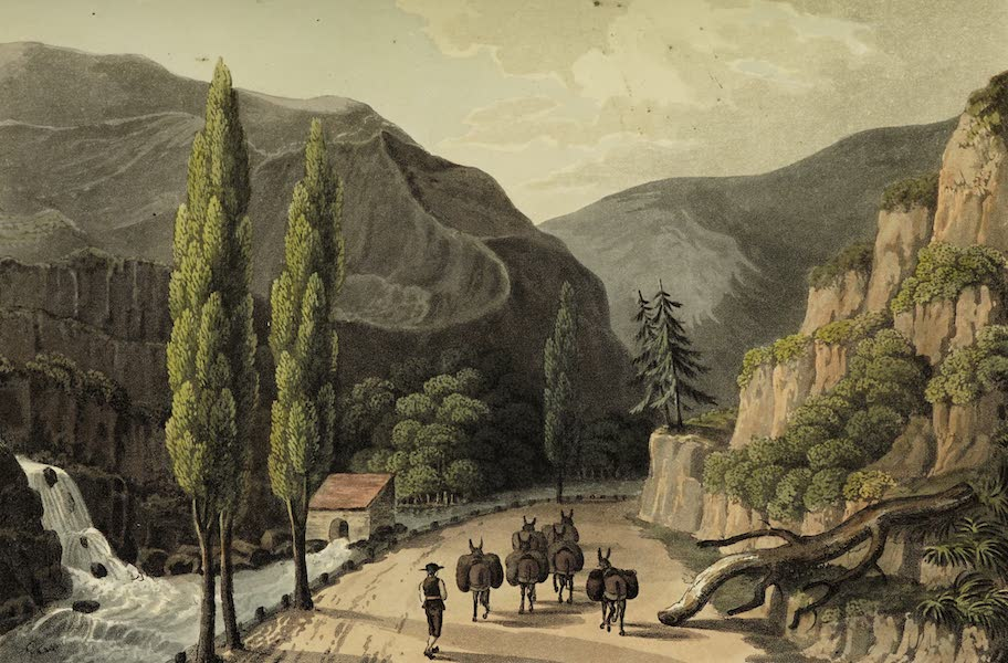 Sketches of Portugal and Spain - View near Villa Franca (1809)