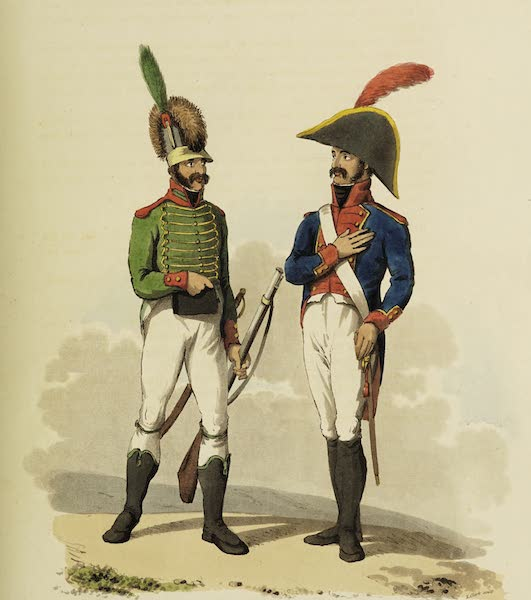 Sketches of Portugal and Spain - Spanish Military Costume (1809)