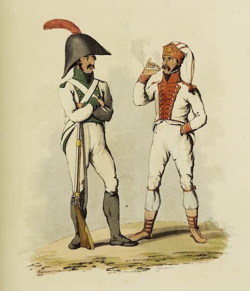 Sketches of Portugal and Spain - Spanish Infantry (1809)