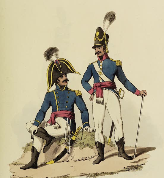 Sketches of Portugal and Spain - Portuguese Military Costume (1809)