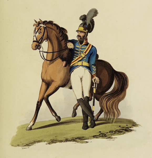 Sketches of Portugal and Spain - Novion or Lisbon Police Cavalry (1809)