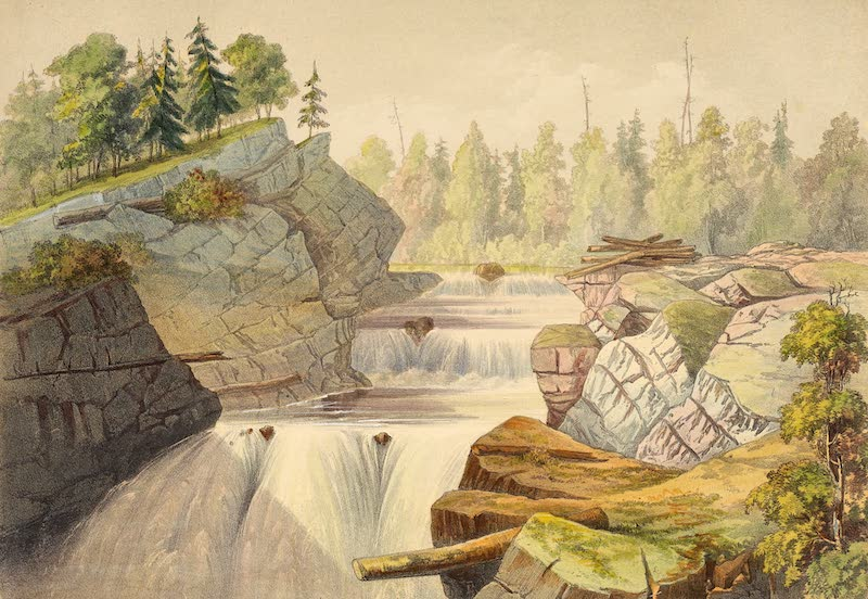 Sketches on the Nipisaguit - Above the Grand Falls (1860)