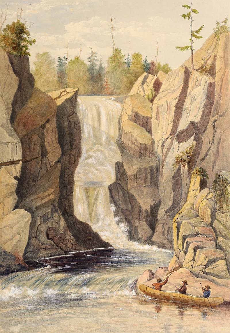 Sketches on the Nipisaguit - The Grand Falls (1860)