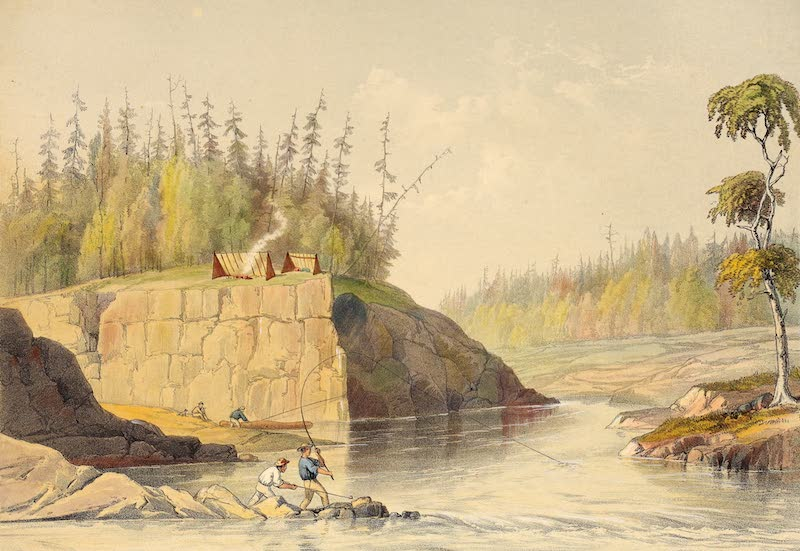 Sketches on the Nipisaguit - Morning at the Landing (1860)